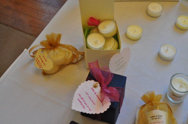soy wax wedding favour candles