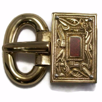 Pewsey Rectangular Garnet Buckle