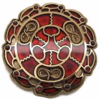Merovingian Disc Brooch