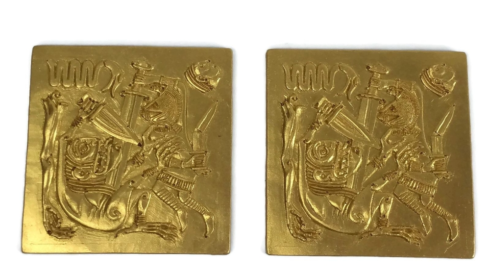 Chocolate Beowulf plaques