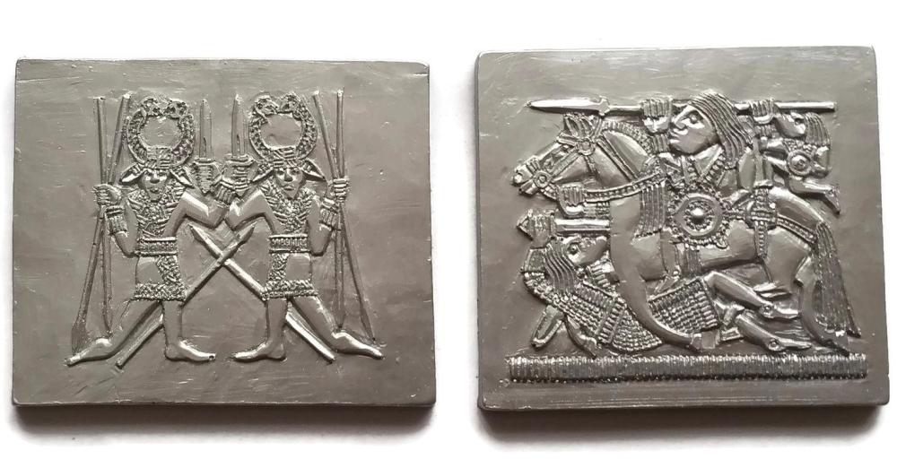 Chocolate Sutton Hoo plaques