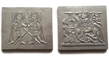 Chocolate Sutton Hoo helmet Plaques