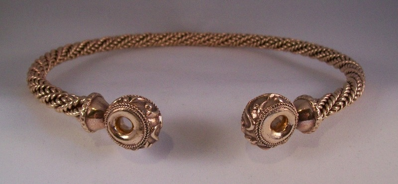 fancy donut bronze torc