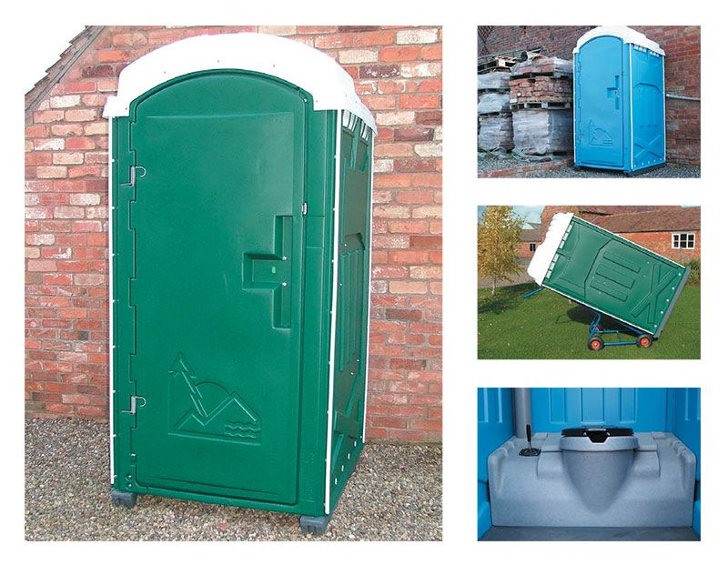 Individual plastic toilets for hire