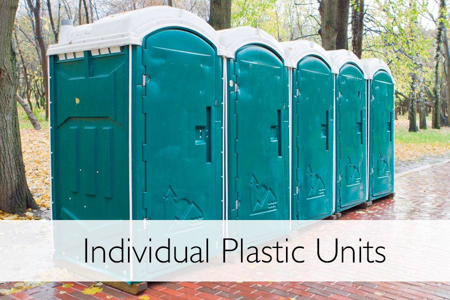 Individual Plastic toilets for hire Mid Wales and shropshire