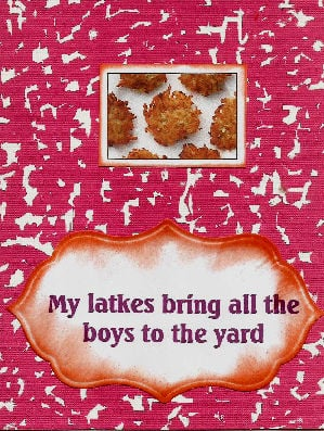 My latkes Chanukah card