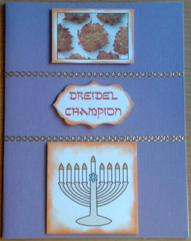 Dreidel Champion Chanukah Card