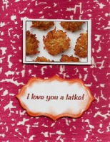 I love you a latke! card