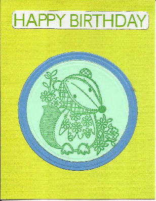 Happy Birthday Badger Card