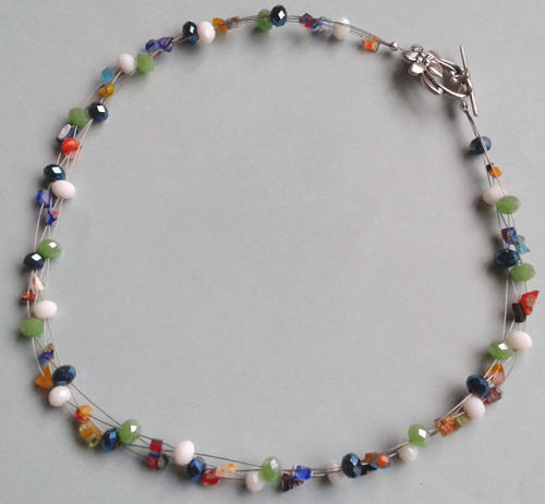 Illusion Millefiori Sparkle Necklace