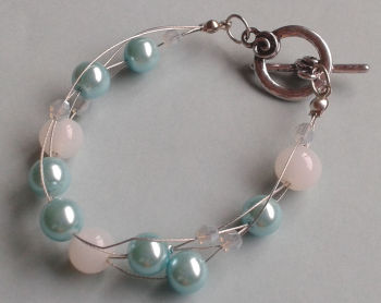 Soft Green and Opaque White Illusion Bracelet