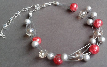 Red Sparkle Illusion Bracelet
