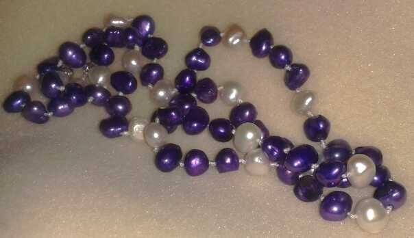 purple knotted pearls