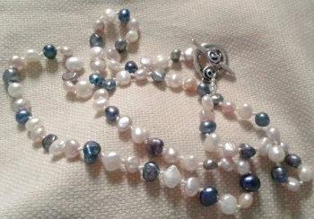 Tricolour Freshwater Pearl Necklace