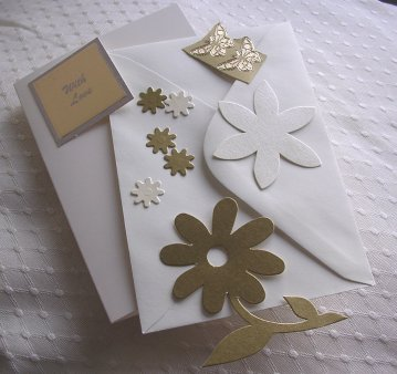 Gold Flower Card Kit
