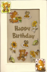Universal Gift Voucher Card  - Teddy Bear