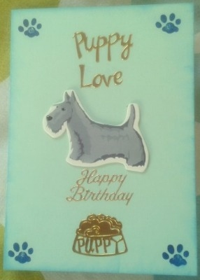 Puppy Love Birthday Card
