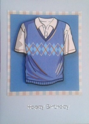 Blue Jersey Birthday Card