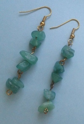Green Adventurine drop earrings