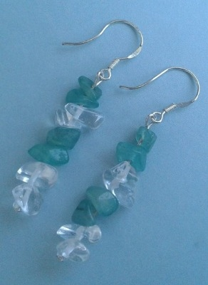 Adventurine & Crystal Earrings