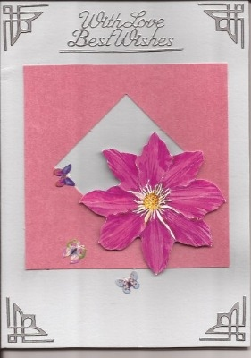 Pink Flower Love Best Wishes Card