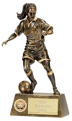 Pinnacle Womens Football Trophy A1201B 18cm