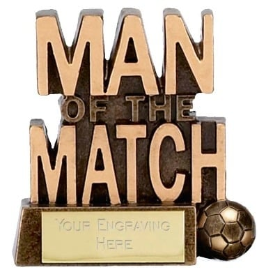 Man of the Match Trophy A878 8cm
