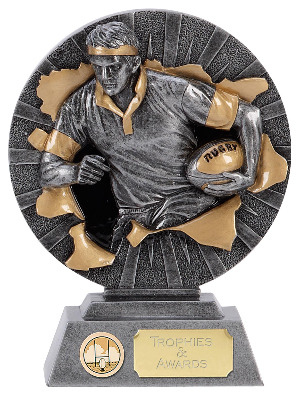 Xplode Rugby Trophy XP013A 12cm