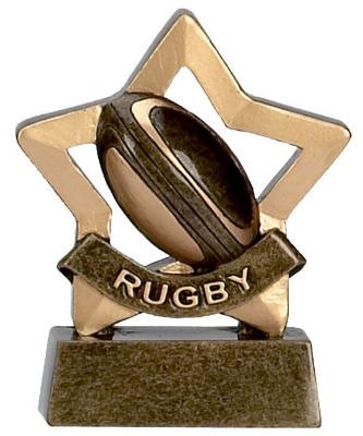 Mini Stars Rugby Trophy A959 8cm