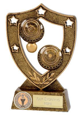 ShieldStar Lawn Bowls Trophy N01057B/G 15cm