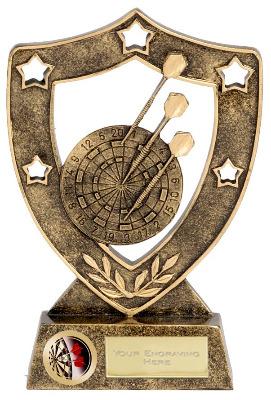 ShieldStar Darts Trophy N01018B/G 15cm