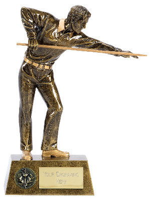 Pinnacle Pool Snooker Trophy A1381A 15cm