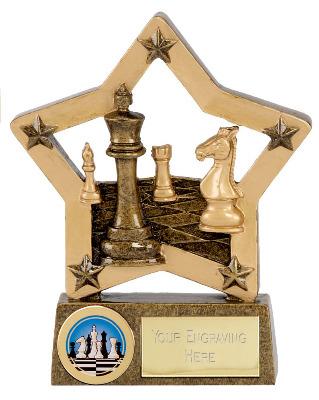 EconomyStar Chess Trophy N02039A/G 12cm