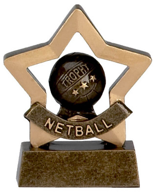 Mini Stars Netball Trophy A965 8cm