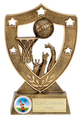 ShieldStar Netball Trophy N01036A/G 12cm
