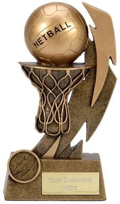 Gold Flash Netball Trophy A1397AA 12cm