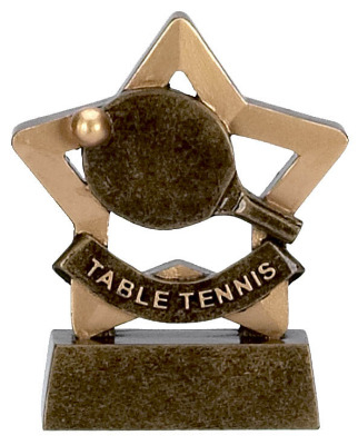 Mini Stars Table Tennis Trophy A966 8cm
