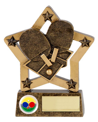 EconomyStar Table Tennis Trophy N02006A/G 12cm
