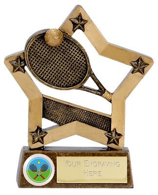 EconomyStar Tennis Trophy N02007A/G 12cm