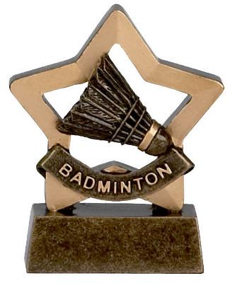 Mini Stars Badminton Trophy A967 8cm