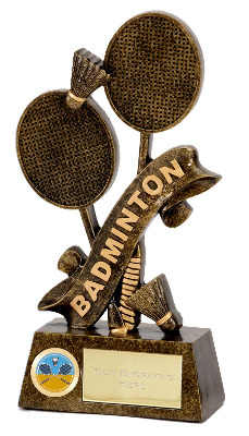 Pinnacle Badminton Trophy A1246A 15cm