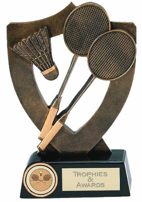 Celebration Shield Badminton Trophy A344A 13cm