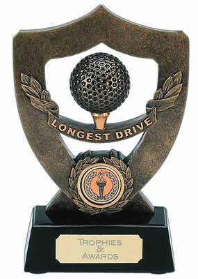 Celebration Shield Golf Longest Drive Trophy A349 17cm
