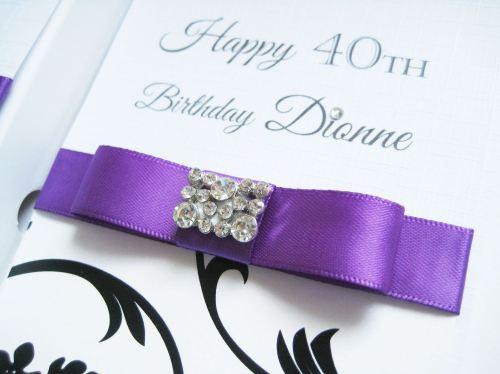 Personalised 40th Birthday Card – Handmade 40th Birthday Invitations