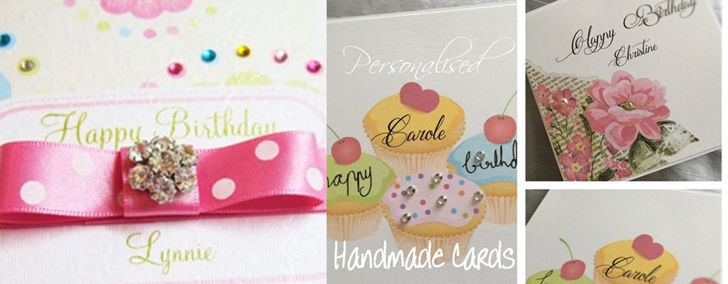 Personalised handmade cards for party and special occasions