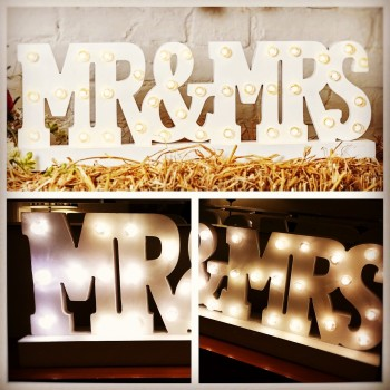 Mr and Mrs Light up Wedding sign