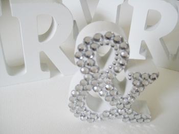 Mr and Mrs Letters Wedding Sign
