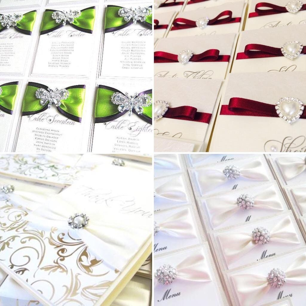 Wedding reception and ceremony stationery