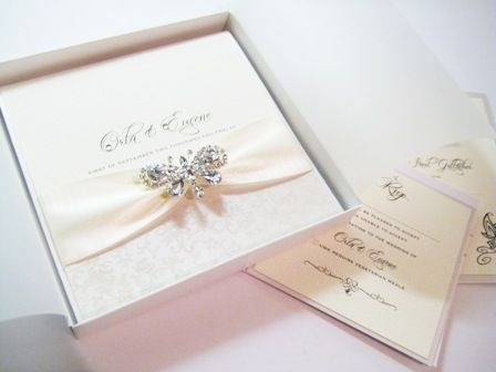 boxed butterfly invitation in ivory