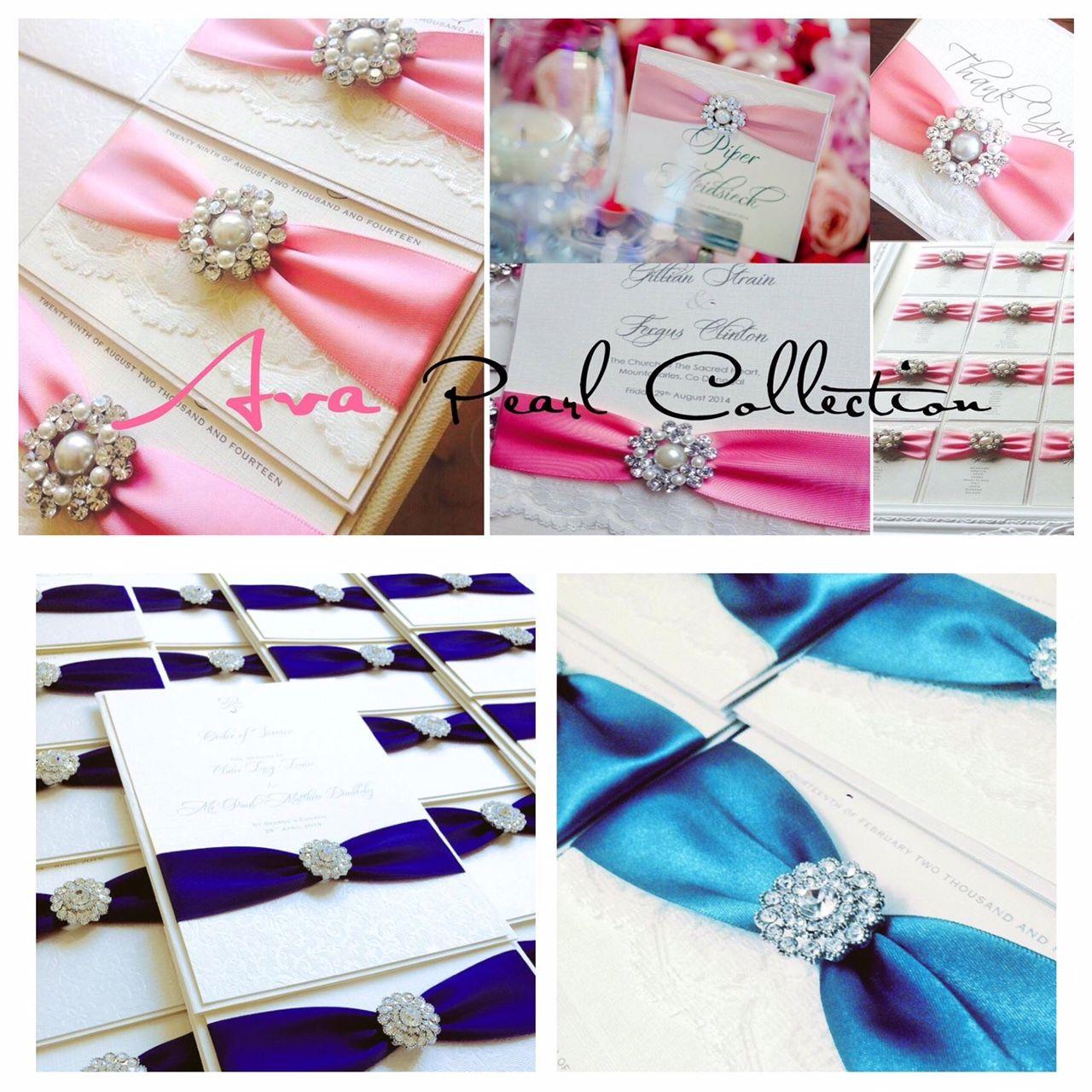 Wedding ceremony and reception keepsake stationery